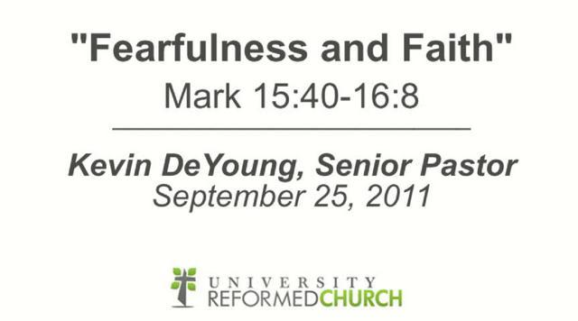 Fearfulness And Faith