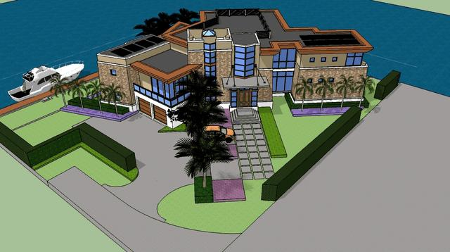 3d Rendering Of A Custom Modern Luxury Home On The Waterfront On Vimeo