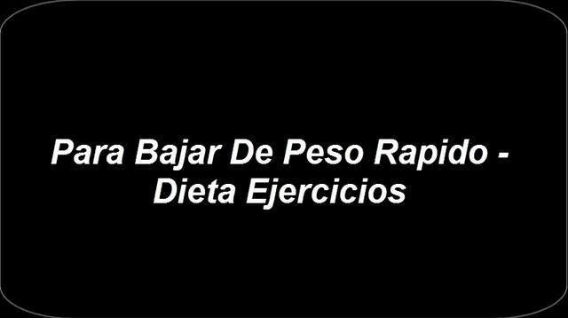 Para Bajar de Peso Rapido - Dieta Ejercicios on Vimeo