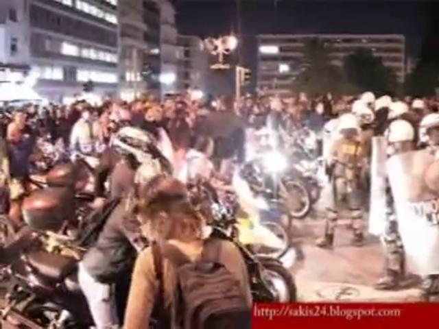 27-9-11 Σύνταγμα επεισόδια μοτοσυκλετιστές