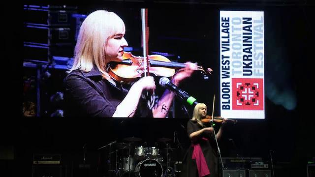 Stefanie Hutka's Violin Performance at the Toronto Ukrainian Festival 2011