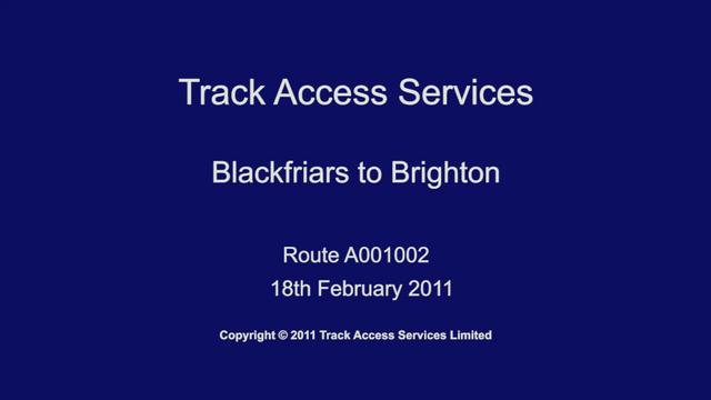 A001002 Blackfriars to Brighton, Driver POV