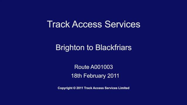A001003 Brighton to Blackfriars, Driver POV
