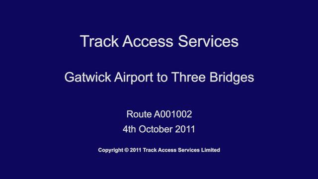 A001002(tasmap) Gatwick Apt to Three Bridges, Driver POV
