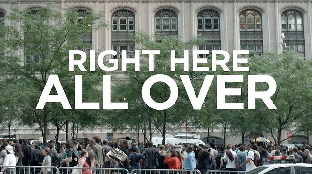 Right Here All Over - Occupy Wall Street #occupywallstreet