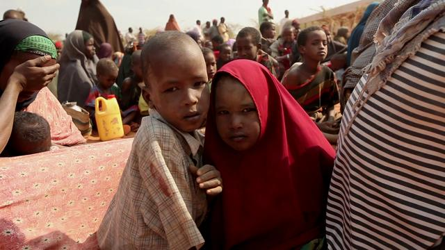 Footage from the Dadaab refugee camp in Kenya relating to Horn of Africa food crisis