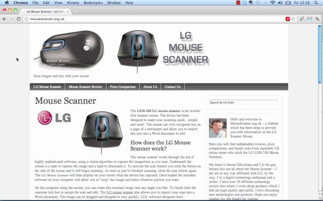 The LSM-100 LG mouse scanner