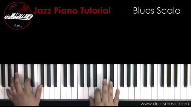 Jazz blues piano tutorial