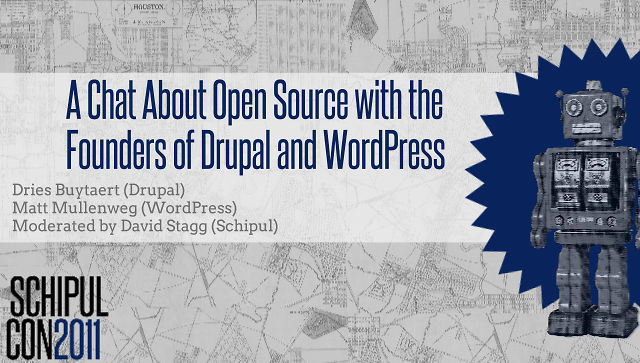 Open Source Discussion with the Founders of Drupal and WordPress