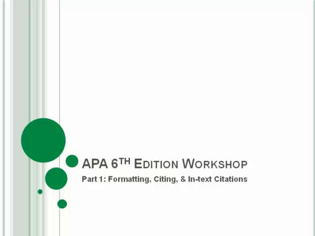 6th edition apa dissertation sample