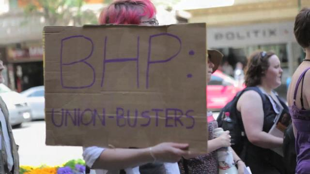 Melbourne protest against BHP Billiton