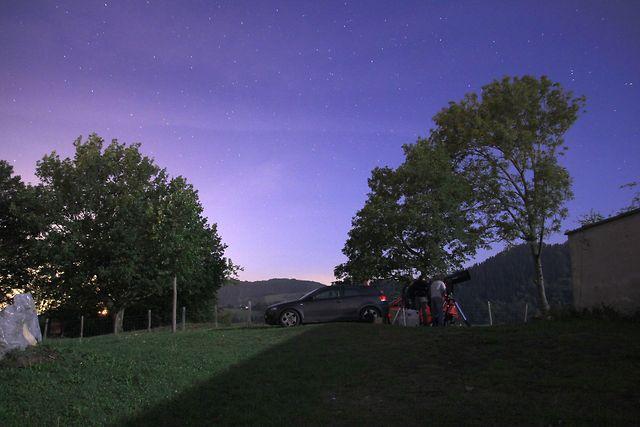 Behaketa astronomikoa Ezkio-Itsason / Observación astronómica en Ezkio-Itsaso