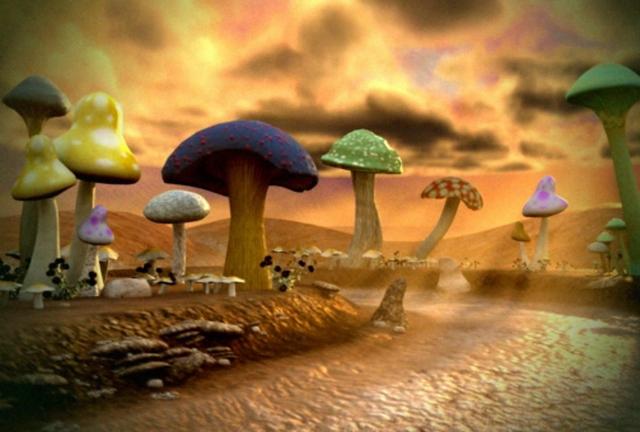 Mushroom Oasis Render Demonstration