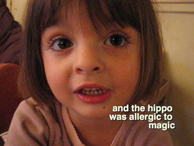 Seorang anak gadis Prancis yang menggemaskan sedang menceritakan sebuah kisah, yang dibintangi oleh Buaya, Singa, popotamus dan mammoth yang sangat jahat.
