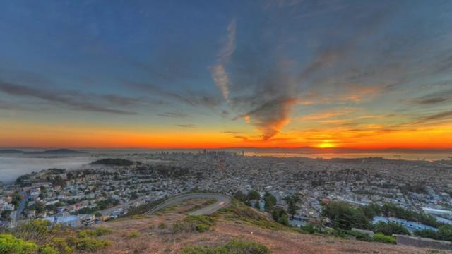 Twin Peaks San Francisco Sunrise (HDR time-lapse)