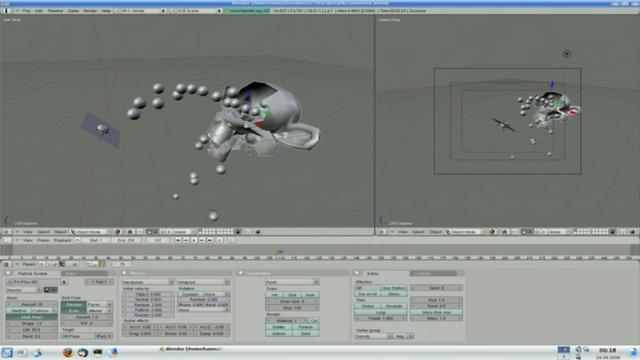 Blender Tutorial - Destroying Mesh With External Particles