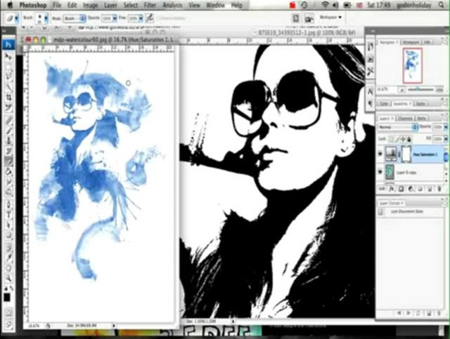 Creating an Ink Blot Effect in Photoshop