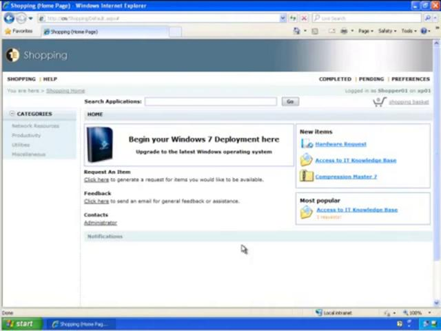 Shopping: Enable end users to migrate to Windows 7