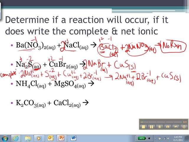 net ionic equation examples