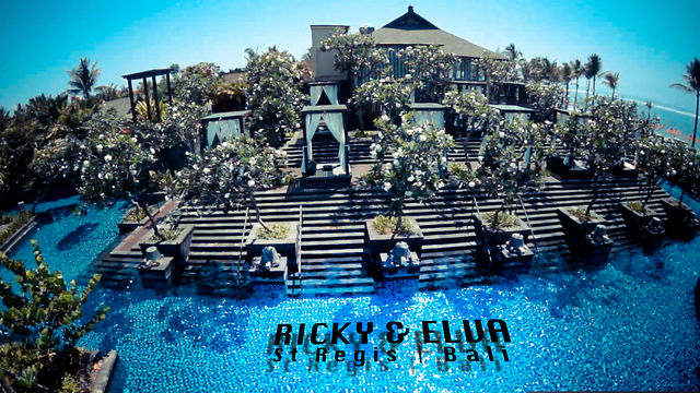Ricky & Elva Wedding Ceremony @St Regis Bali Indonesia ft Aerial Helicopter
