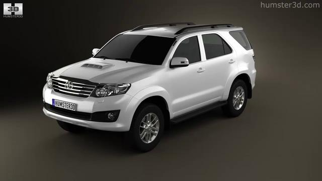 Toyota Fortuner 2012 by 3D model store Humster3D.com
