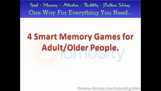Lumosity Games, 4 Smart Memory Games for Adults, Brain ...