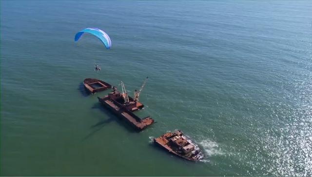Powered Paraglider Flight