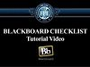 Blackboard Checklist