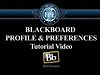 Blackboard Profile &amp; Preferences