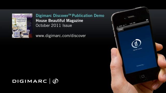 House Beautiful Magazine (Oct 2011) - Digimarc Discover Publication Demo