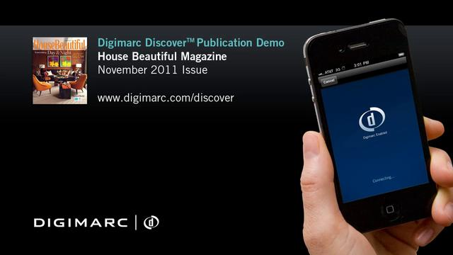 House Beautiful Magazine (Nov 2011) - Digimarc Discover Publication Demo