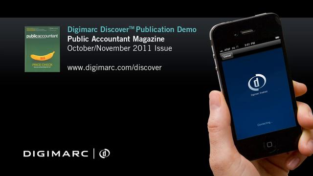 Public Accountant (Oct/Nov 2011) - Digimarc Discover Publication Demo