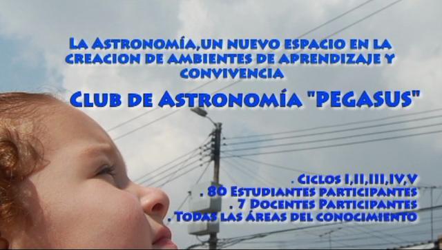 Astronomía Colegio Paulo VI Kennedy