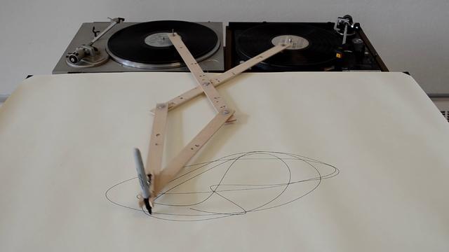 Robots - Discos de vinilo dibujando abstracto
