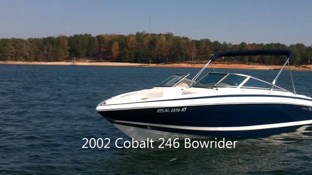 2002 Cobalt 246 24 foot bowrider for sale. Better than SeaRay!