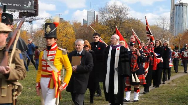 Fort York Remembrance Day Ceremony at Garrison Commons, Toronto 11/11/11