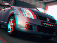 Maruti Suzuki Swift - Anaglyph Stereoscopic by Clique Studios
