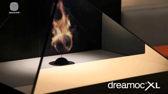 Holographic Displays_fireplace demo