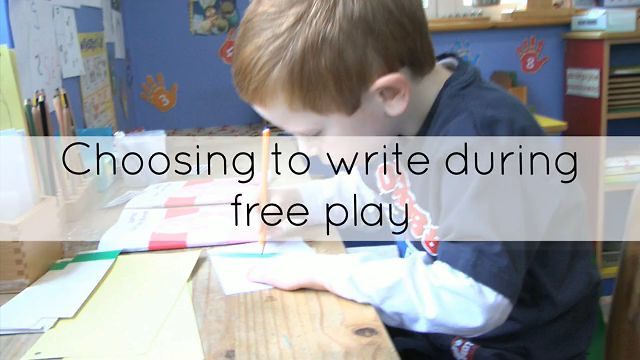 Choosing To Write During Free Play