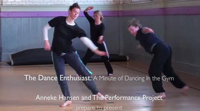 The Dance Enthusiast: A Minute of Dance at The Gym with Anneke Hansen
