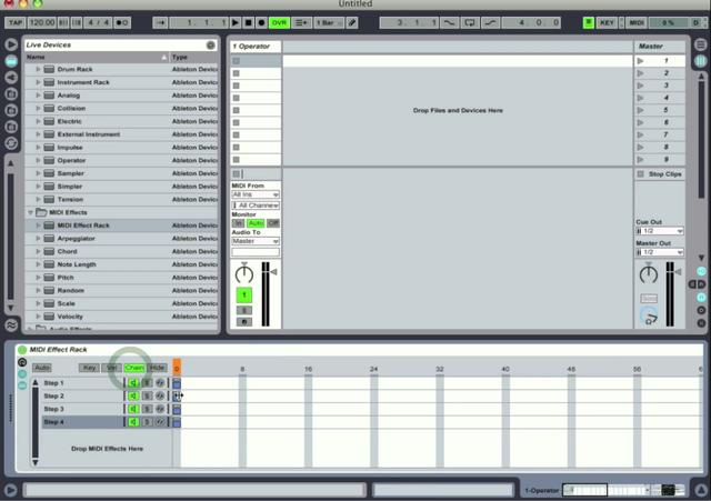 Making a Step Sequencer in Ableton Live.