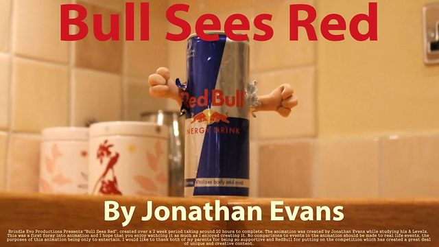 """Bull Sees Red"" (RedBull Canimation Stop Motion Film Entry)"