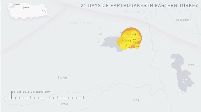 21 days of earthquakes in eastern turkey