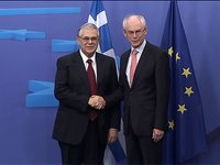 Meeting with the Prime Minister of Greece, Lucas Papademos