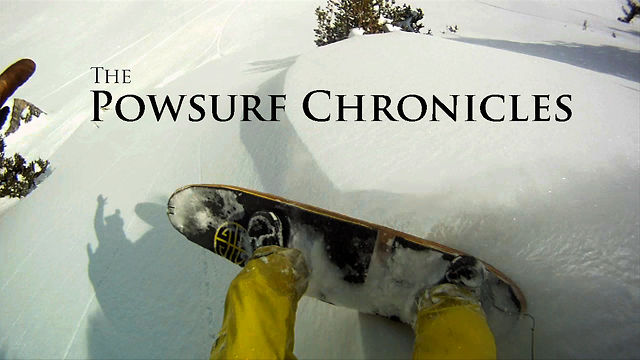 PowederSurfing. Snowboarding without bindings