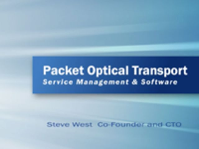 Packet-Optical Transport Services