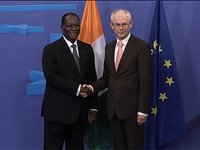Meeting with the President of Ivory Coast, Alassane Ouattara