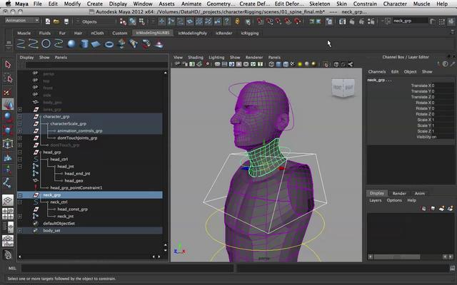 7. Simple Character Rigging - Head