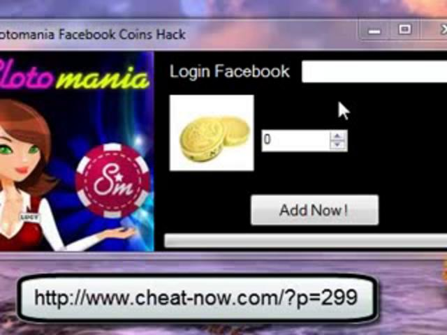 Slotomania Cheat/Hack Coins Adder Facebook
