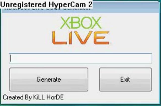 Xbox 360 live code generator